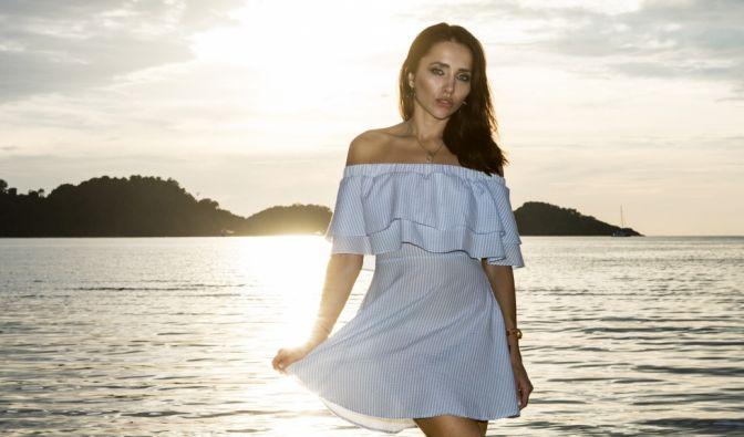 Anastasiya (30) aus Mainz:Mit Stil, Klasse, toller Figur und Rehaugen will das Model und Playmate die Männer in Versuchung führen.