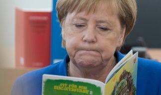 Vor den Landtagswahlen im Osten gibt es in der CDU intensive Debatten über Merkels Wahlkampfeinsatz. (Foto)