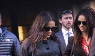 Inkognito geht anders! Meghan Markle kommt zu ihrer Babyparty im Mark Hotel. (Foto)