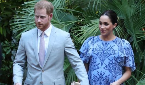 Prinz Harry und seine Frau Meghan, Herzogin von Sussex, verlassen die königliche Residenz während des dritten Tages ihrer Marokko-Tour. (Foto)