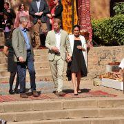 Der britische Prinz Harry und seine Frau Meghan, Herzogin von Sussex, besuchen eine Veranstaltung in den Andalusischen Gärten, um junge Kunsthandwerker und Unternehmer zu treffen.