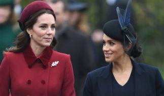 Kate, Herzogin von Cambridge, und Meghan, Herzogin von Sussex, sollen sich weiterhin zoffen. (Foto)