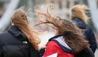 Heftige Sturmböen haben Deutschland weiterhin im Griff. (Foto)