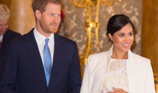 Werden in wenigen Wochen zum ersten Mal Eltern: Prinz Harry und Meghan Markle. (Foto)