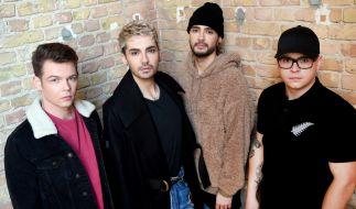 Die Musiker der Band Tokio Hotel, Georg, Bill Kaulitz, Tom Kaulitz und Gustav. (Foto)