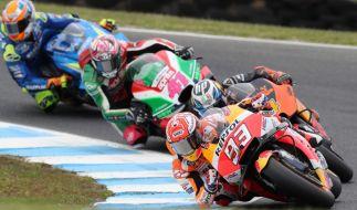 Die MotoGP gastiert an diesem Wochenende in Valencia. (Foto)