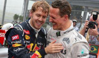 Sebastian Vettel und Michael Schumacher rasten einst zusammen über die Rennstrecken. (Foto)