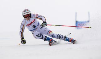 Viktoria Rebensburg aus Deutschland in Aktion. (Foto)