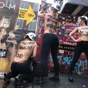 Femen protestiert im Rotlichtviertel gegen sexuelle Ausbeutung (Foto)