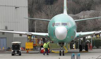 ine Boeing 737 MAX 8 steht vor dem Boeing Fertigungswerk. (Foto)