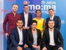 """Benjamin Stöwe (oben links) ist im """"ZDF Morgenmagazin"""" fürs Wetter verantwortlich. (Foto)"""