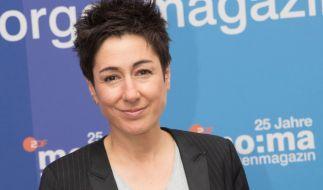 Moderatorin Dunja Hayali wurde in der Live-Sendung attackiert. (Foto)