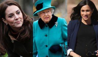 Kate Middleton, die Queen und Meghan Markle sorgten auch in dieser Woche für Schlagzeilen. (Foto)