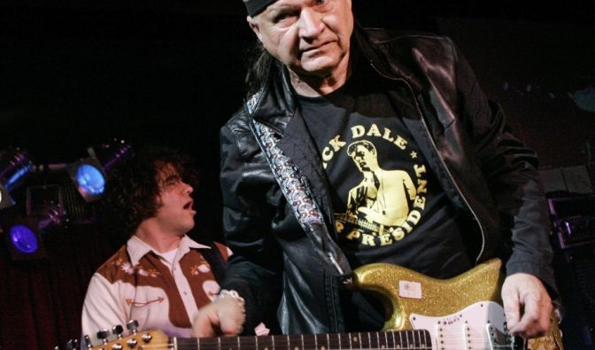 Dick Dale, US-amerikanischer Gitarrist (04.05.1937 - 16.03.2019).