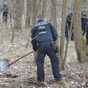 Eine Hundertschaft der Berliner Polizei ist am 07.03.2019 nach Brandenburg ausgerückt, um bei Storkow (Oder-Spree) ein Waldstück nach der vermissten Rebecca abzusuchen.