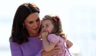 Kate Middleton mit ihrer Tochter, Prinzessin Charlotte. (Foto)