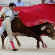 Dramatisches Video! Stierkämpfer lebendig aufgespießt (Foto)
