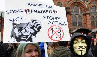 Am Samstag, dem 23. März 2019, wird deutschlandweit gegen die geplante EU-Urheberrechtsreform demonstriert. (Foto)