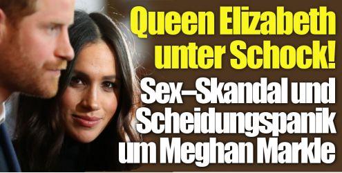 Meghan Markle, Prinz Harry, Queen Elizabeth II. (Foto)
