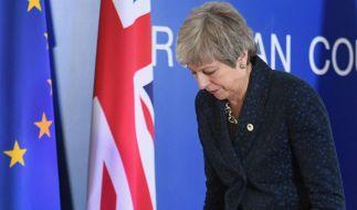Theresa May hat die nächste Schlappe im Brexit-Chaos kassiert. (Foto)
