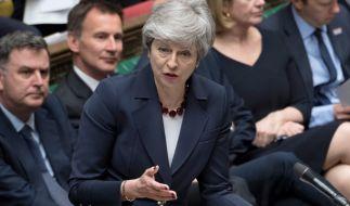 Theresa May ist bereit, sich für den Brexit-Deal zu opfern. (Foto)