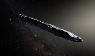 """Eine Darstellung des des Asteroiden """"Oumuamua"""". (Foto)"""