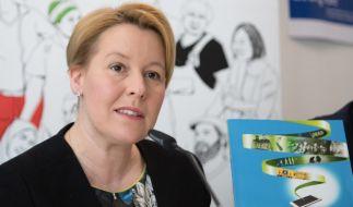 """In Berlin stellte Bundesfamilienministerin Franziska Giffey am Dienstag den Report """"Islamismus im Netz 2018"""" vor. (Foto)"""