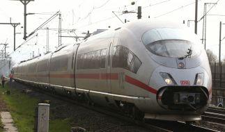 Ein ICE der Deutschen Bahn steht in der Nähe des Hauptbahnhofs, nachdem die Oberleitung abgerissen ist. (Foto)