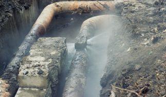 In St. Petersburg ist eine Wasserleitung geplatzt. (Foto)