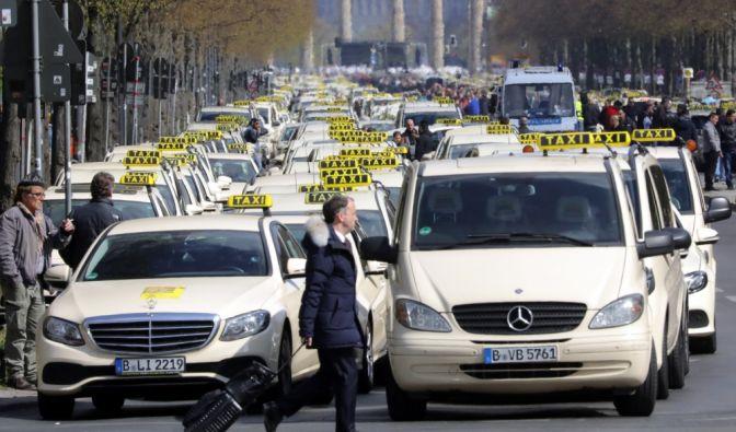 Taxifahrer Streik April 2019