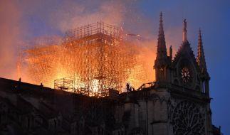 Notre-Dame in Flammen. (Foto)