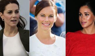 Kate Middleton, Prinzessin Sofia von Schweden und Meghan Markle. (Foto)