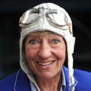 Heidi Hetzer, deutsche Unternehmerin und Rallyefahrerin (20. Juni 1937 - 21. April 2019).