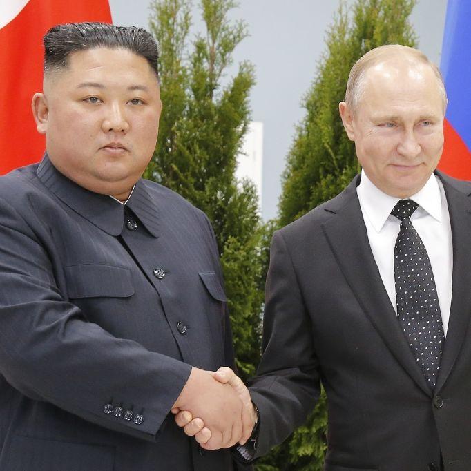 """Erstes Vier-Augen-Gespräch Putins mit Kim: """"Inhaltsvoll"""" (Foto)"""