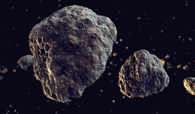 Asteroid über Deutschland