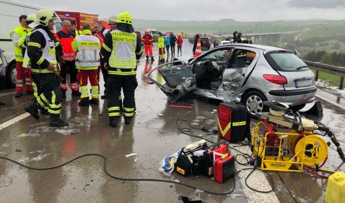 Unfall-Horror auf der Autobahn 71