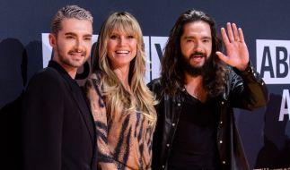 Fast unzertrennlich: Heidi Klum, Bill Kaulitz (l.) und Tom Kaulitz. (Foto)