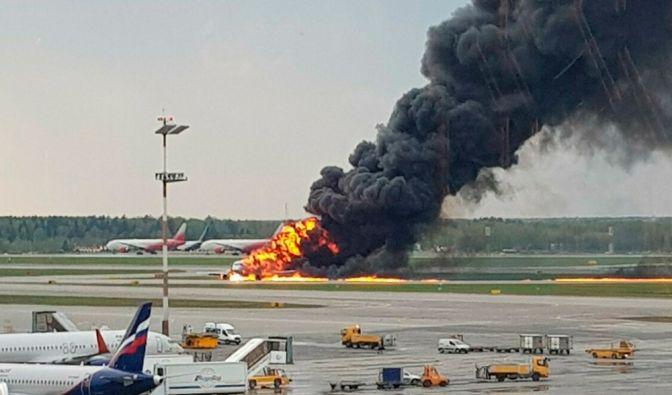 Flammen-Drama auf Moskauer Flughafen