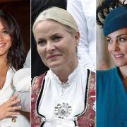 Meghan Markle, Prinzessin Mette-Marit und Kate Middleton. (Foto)