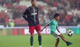 Cristiano Ronaldo sieht in seinem Sohn ein riesiges Talent (Foto)