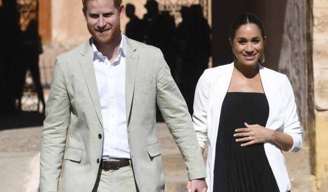Prinz Harry mit Gemahlin Meghan, Herzogin von Sussex, im marokkanischen Rabat.