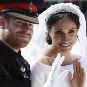 Prinz Harry und Meghan Markle an ihrem Hochzeitstag. (Foto)
