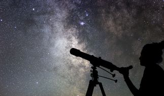 Sternschnuppen kann man das ganze Jahr am Himmel sehen. (Foto)