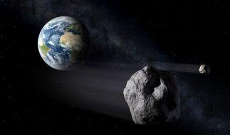 Ein riesiger Asteroid fliegt am Wochenende an der Erde vorbei. (Foto)