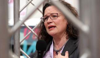 SPD-Chefin Andrea Nahles will sich vorzeitig Neuwahlen zum Fraktionsvorsitz der Sozialdemokraten stellen. (Foto)