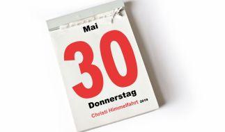 Der 30. Mai 2019, Christi Himmelfahrt, ist in Deutschland ein gesetzlicher Feiertag. (Foto)