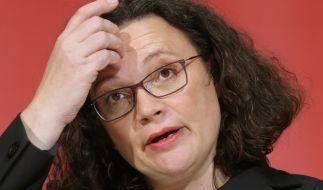 AndreaNahles tritt als SPD- und Fraktionschefin zurück. (Foto)