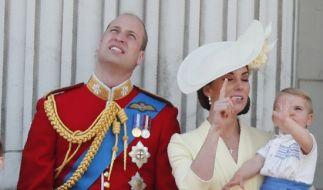 Royaler Hingucker: Prinz Louis. (Foto)