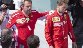 Ferrari-Pilot Sebastian Vettel steht die Enttäuschung über die Niederlage beim Großen Preis von Kanada ins Gesicht geschrieben. (Foto)
