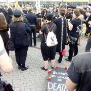 Trauermarsch zum Abschluss des WGT19 #bedrohteArten